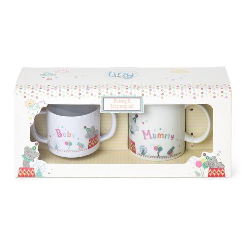 Me to You Tiny Tatty Teddy Mug /& Beaker Set for Mum /& Baby