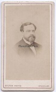 Ghemar Fratelli Bruxelles Belgium CDV Vintage Albumina Ca 1875