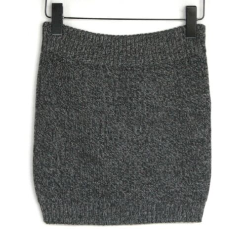 CHLOE wool and alpaca stretch dark grey ribbed tri