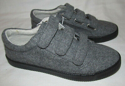 Strap Gray Shoes Youth Boys Girls Size