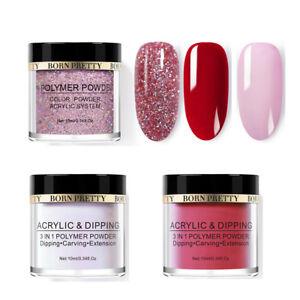 3Bottles-BORN-PRETTY-Holographic-Dipping-Glitter-Powder-Kits-Nail-Art-Decoration