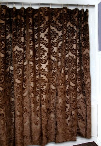 Free Shipping Brown Damask Western Gold Rush Shower Curtain
