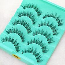 5 Paare Lang Dick Künstliche Falsche Wimpern Fake Eyelash Kit Make Up # L18
