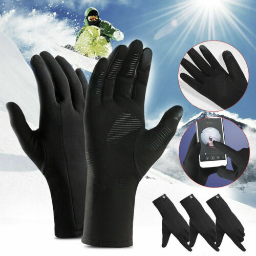 Waterproof Outdoor Thermal Full Finger Winter Warm Gloves Anti-Skid Touch Screen