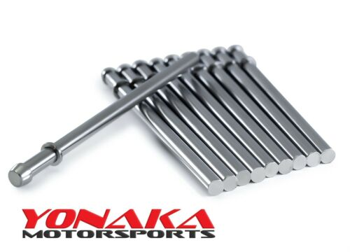 "Yonaka Exhaust Hanger Rods Polished 304 Stainless Steel 10 Pack 1//2/"" x 9.5/"""