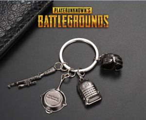 4pcs-Playerunknowns-Battlegrounds-PUBG-Keychain-Keyring-Weapon-Model-Pendant