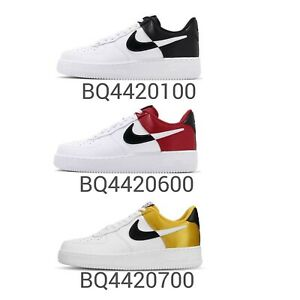 Nike-Air-Force-1-07-LV8-1-NBA-x-Sportswear-Black-Red-Gold-Mens-Shoes-Pick-1