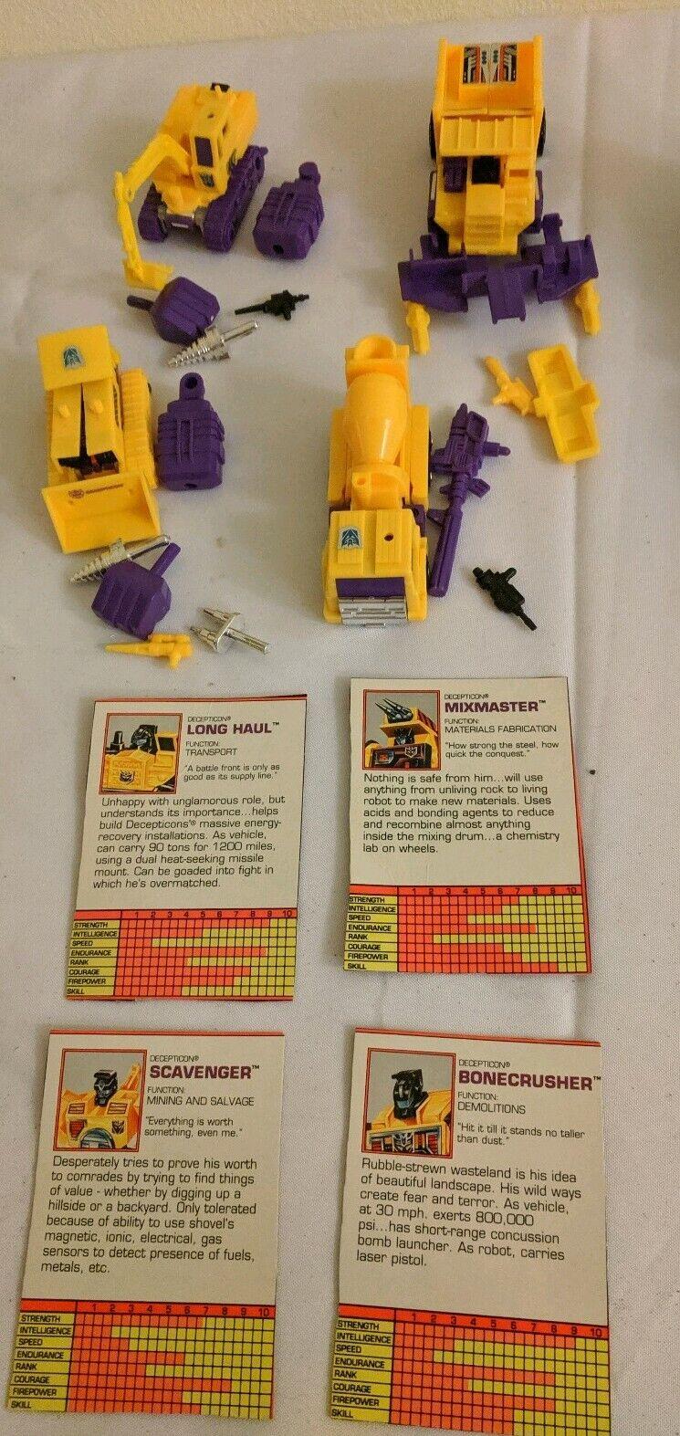 1984 Transformers G1 Constructicon  Devastator Set Almost completare Very Good Cond  ampia selezione