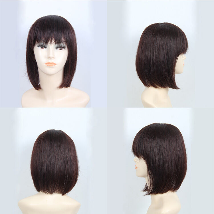 Thick Silk Human Hair Topper Top Piece Women Hairpiece Toupee Half Wig Side Part 1b Black For Sale Ebay