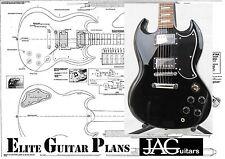 Luthiers Piano/disegno per Gibson, piccolo S. G Battipenna per progetto fai da te p042