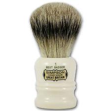 Simpsons Duke 1 Best Badger Hair Shaving Brush with Cream Handle