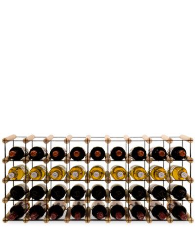 Étagère à vin Pour 9 à 81 bouteilles bouteilles étagère bouteilles Support Métal Bois rw-8-9