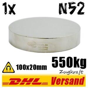 Neodym-Magnet-100x20mm-550kg-N52-grosser-Power-Hochleistungsmagnet-Scheibe