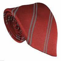 High + Junior + Infant School Double Stripe Striped Tie Clip On Elastic Ties