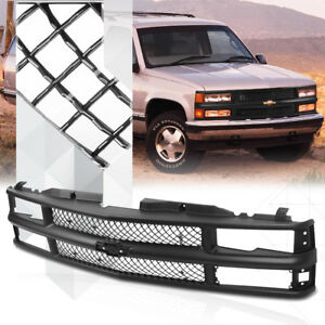 Details About Black ABS Classic Mesh Grille Grill For 94 99 Chevy C10 CK Suburban Blazer Tahoe