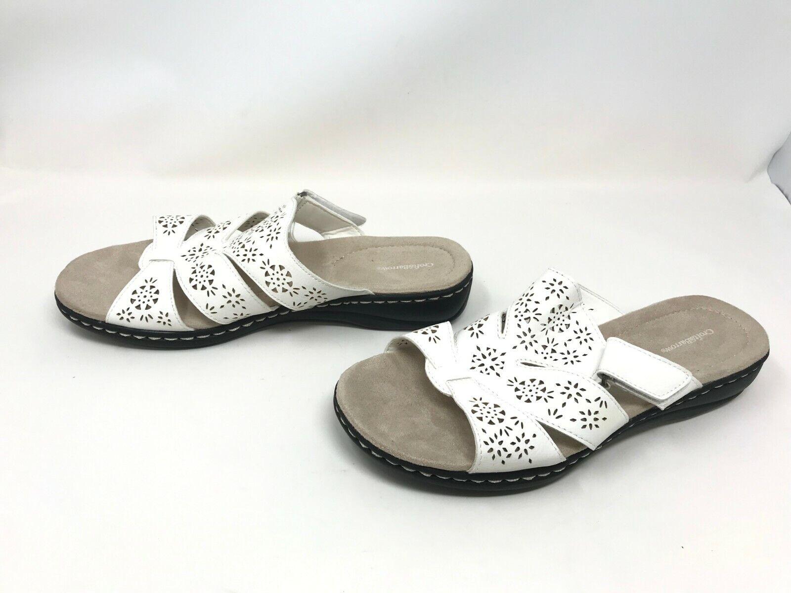 Womens Croft & Barrow (66551) Poppins White Sandals  (401K-L)