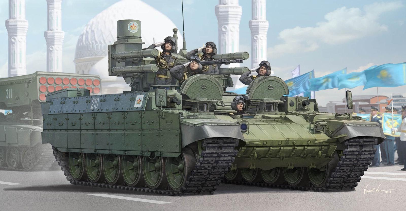 Trumpeter Bmpt Kazakhstan Army Russkoe Army 1 3 5 1 3 5 Building Kit Kit 09506