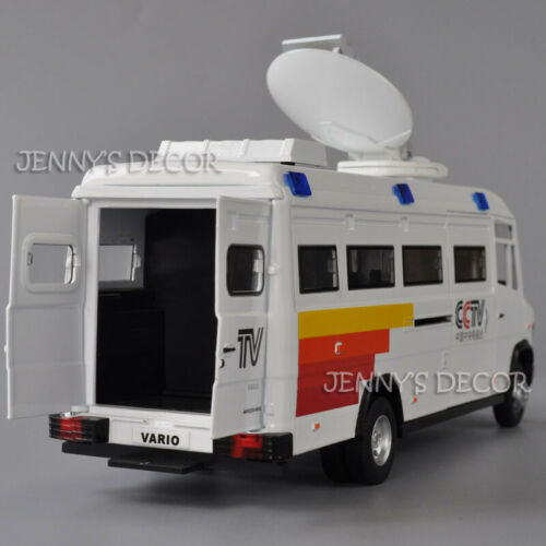 1:32 Diecast Vario 816D MPV TV Station Vehicle Model Toy With Sound /& Light