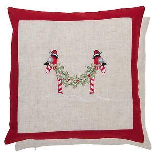 Clayre /& Eef Pillow Case Pillowcase Sparkling Christmas 40 x 40 cm cotton