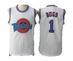 Space-Jam-Tune-Squad-Basketball-Jersey-Bugs-Bunny-1-Lola-10-White-Stitched