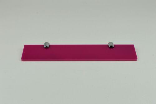 Acrylique étagère Avec Fixations Small//Medium//Large-Couleurs diverses