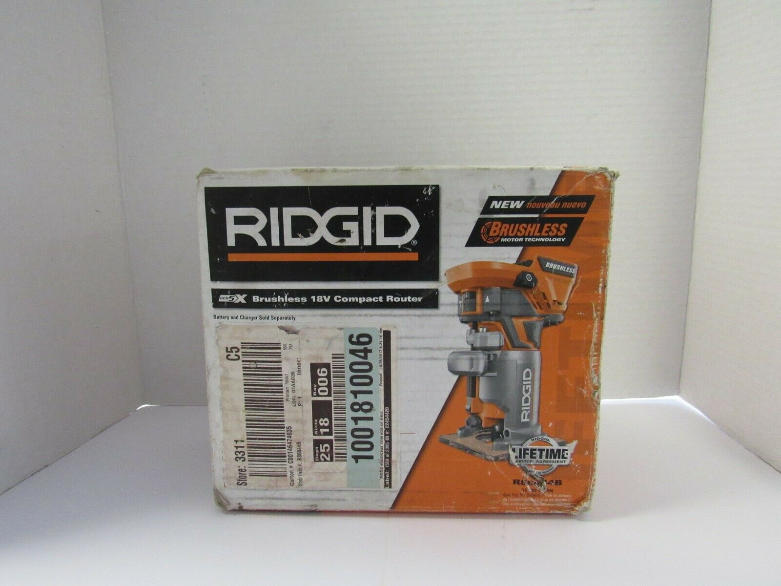 RIDGID 18-Volt Lithium-Ion Cordless Brushless Compact Router Kit