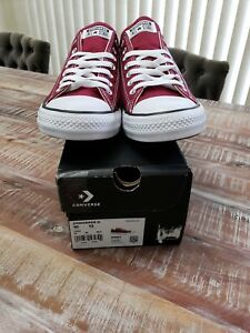 Converse-Chuck-Taylor-All-Star-Ox-Unisex-Shoes-Maroon-Size-10-11-or-12
