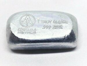 1 Troy oz Zinc Bar .999 Fine 1oz Bullion Stacker Diversify Your Metal Portfolio!