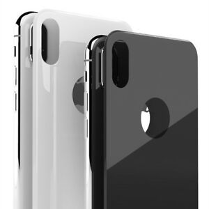 outlet store e35b1 107ef Details about NEW 5D Curved Tempered Glass Back Screen Protector Film For  iPhone X Back Film