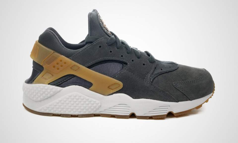 e50adb535410 2015 Exclusive Nike Nike Nike Air Huarache Anthracite   Gum Mid Brown All  Sizes 3a70ed