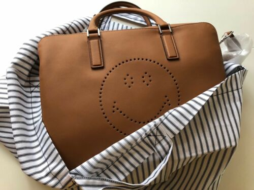 Tote Hindmarch Smiley Briefcase Walton Bag Anya Travel Bnwt nvNw8m0O