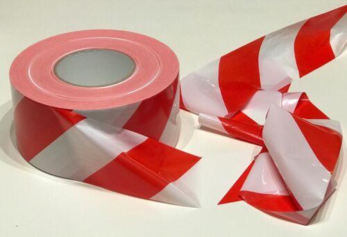 500m Rolle ABSPERRBAND rot//weiß Flatterband Warnband Trassenband im Karton