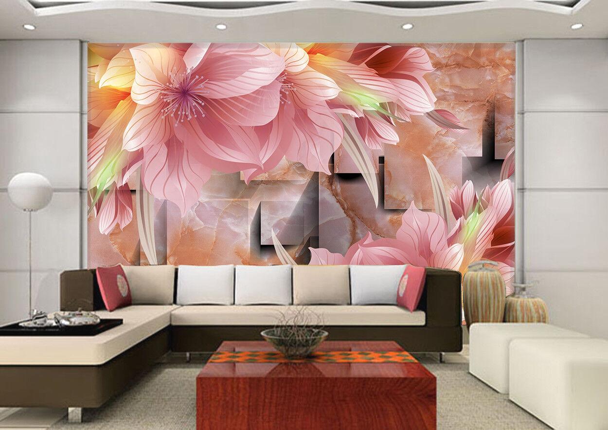 3D Marble Flowers 78 Wall Paper Murals Wall Print Wall Wallpaper Mural AU Kyra