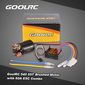 Brand-New-GoolRC-540-55T-Brushed-Motor-with-60A-ESC-for-1-10-RC-Car-X2O4