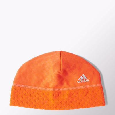 FäHig Adidas Women's Warm Climaheat Thermal Fleece Beanie Hat Running Sport Orange