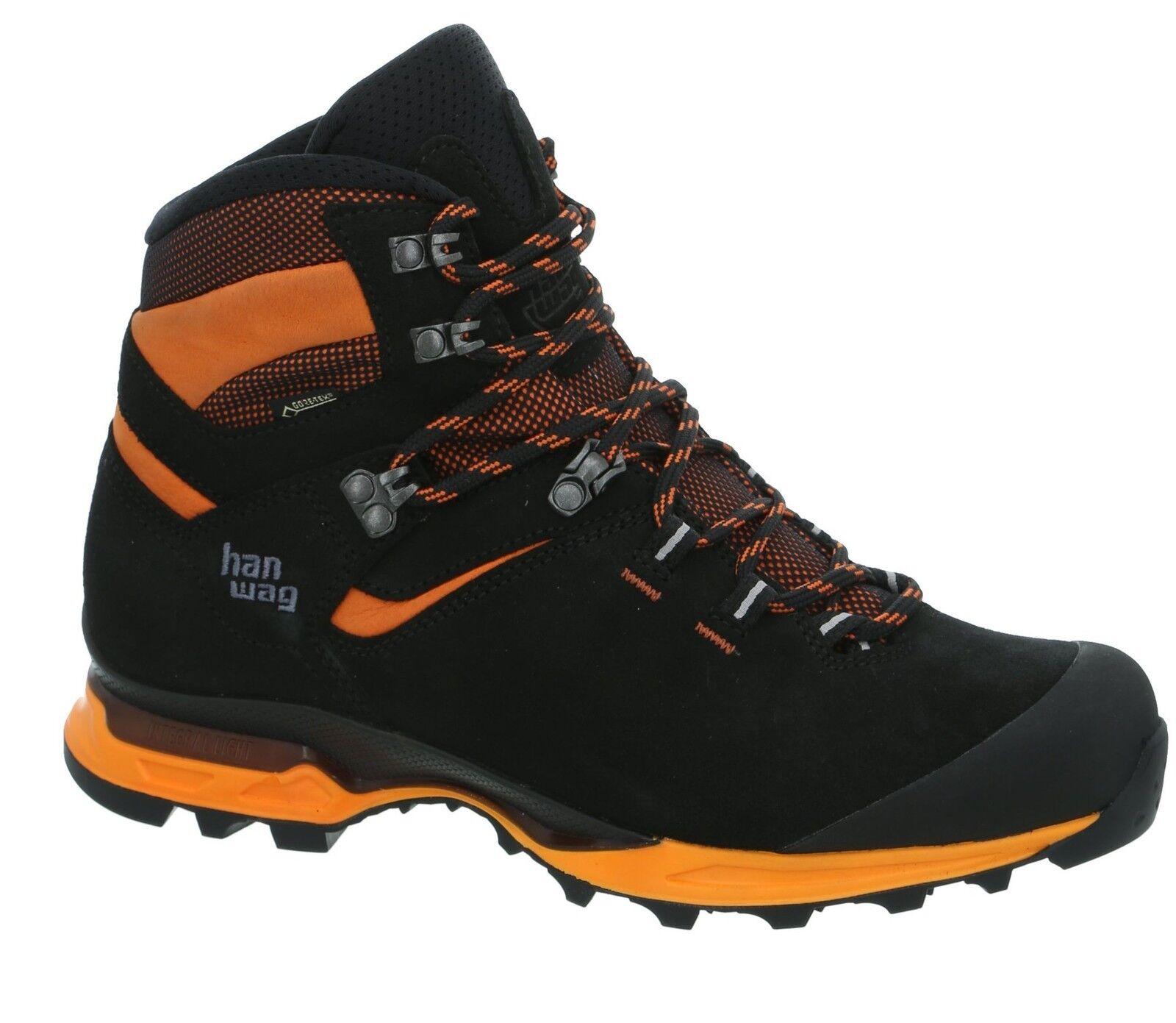 Hanwag montaña zapatos Tatra light GTX talla 10 - 44,5 negro naranja