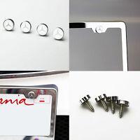 4 Mercedes Benz Car License Plate Frame Bolt Fastener Anti-rust Metal Screws Cap