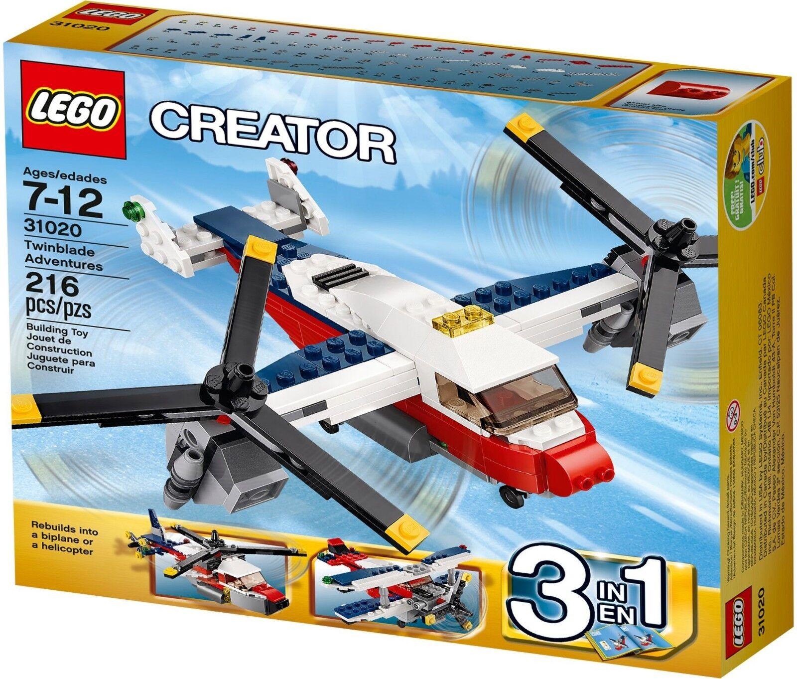 BNIB Genuine Lego Creator 31020 Twinblade Adventures Lego plane helicopter
