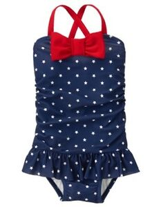 NWT Gymboree July 4th Swimsuit Girls Toddler 12-18M,2T