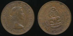 New-Zealand-1962-Halfpenny-1-2d-Elizabeth-II-Uncirculated