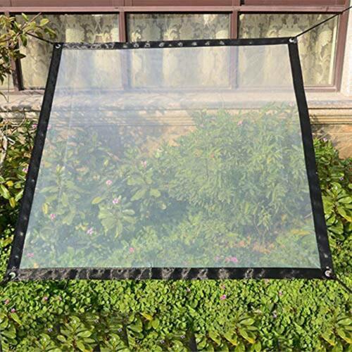 2 x 3 m wasserdichte transparente Plane mit Ösen Vordächer und Planen strapazi