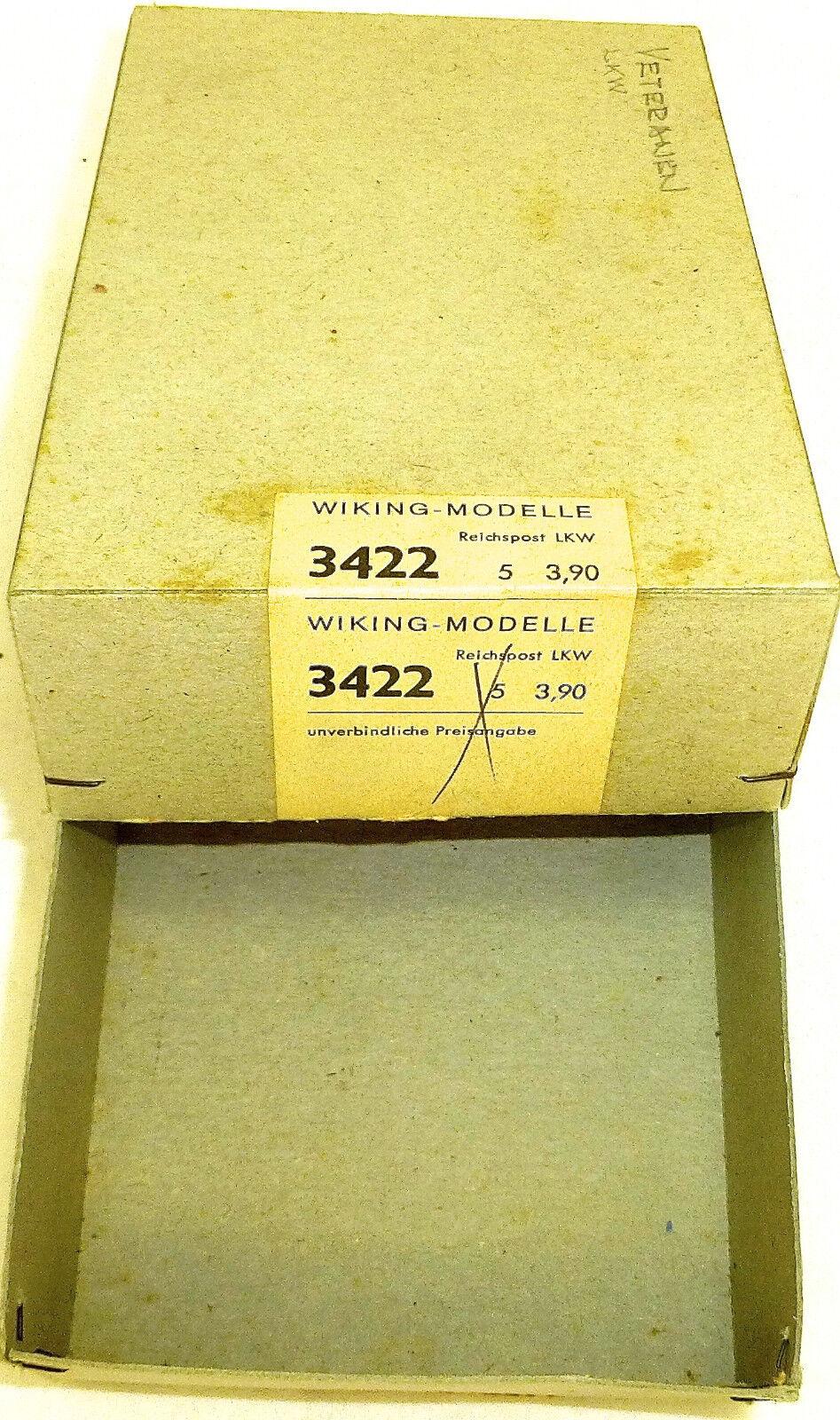 Reichspost Camion Wiking Modèles Modèles Modèles Boîte Vide Carton Wiking 3422 H0 1 87 Å f2e9c3