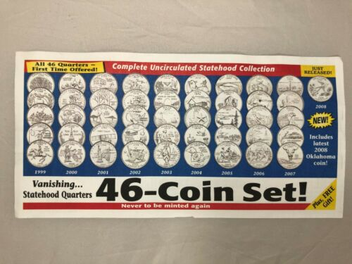 Discount 1st 46 of 50 State Quarter Set UNCIRCULATED Littleton Co Unopened Roll