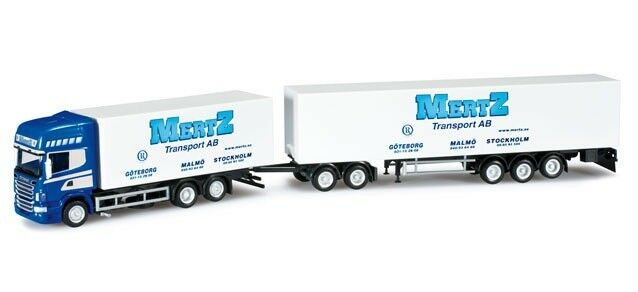 HER302173 - Camion Porteur Scania R09 avec dolly et remorque aux Coloreees su tra