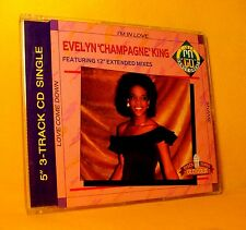 MAXI Single CD EVELYN 'CHAMPAGNE' KING Love Come Down - I'm In Love - Shame