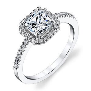 925 sterling silver princess cut engagement ring 1 5 carat