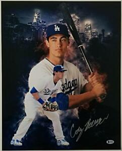 CODY-BELLINGER-Autograph-Signed-DODGERS-Metallic-16x20-Photo-w-Beckett-BAS-COA
