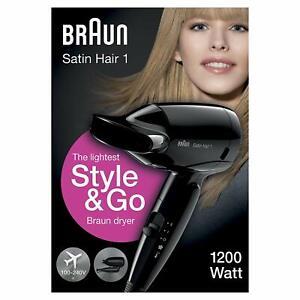 Braun-Satin-Cheveux-1-HD130-Style-amp-go-Seche-a-Voyage-Zeitrelais-1200W-Noir