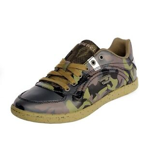 men casual shoes diesel starch leather sneakers military