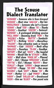 Image Is Loading Scouse Liverpool Dialect Tea Towel Idea Gift Joke